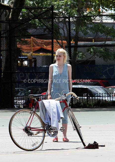 WWW.ACEPIXS.COM . . . . .  ....July 3 2012, New York City....Actress Dakota Fanning shoots a scene for the new movie 'Very Good girls' on July 3 2012 in New York City....Please byline: Zelig Shaul - ACE PICTURES.... *** ***..Ace Pictures, Inc:  ..Philip Vaughan (212) 243-8787 or (646) 769 0430..e-mail: info@acepixs.com..web: http://www.acepixs.com