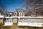 Belcourt Castle mansion in winter,  Newport, RI, USA
