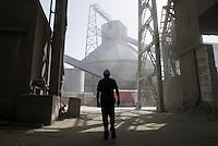 TURKEY, Izmir, cement factory Baticim / TUERKEI, Izmir, Zementfabrik Baticim, mit Finanzierung der KfW wurden Energie Effizienz Massnahmen umgesetzt