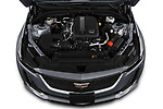 Car Stock 2020 Cadillac CT5 Premium-Luxury 4 Door Sedan Engine  high angle detail view