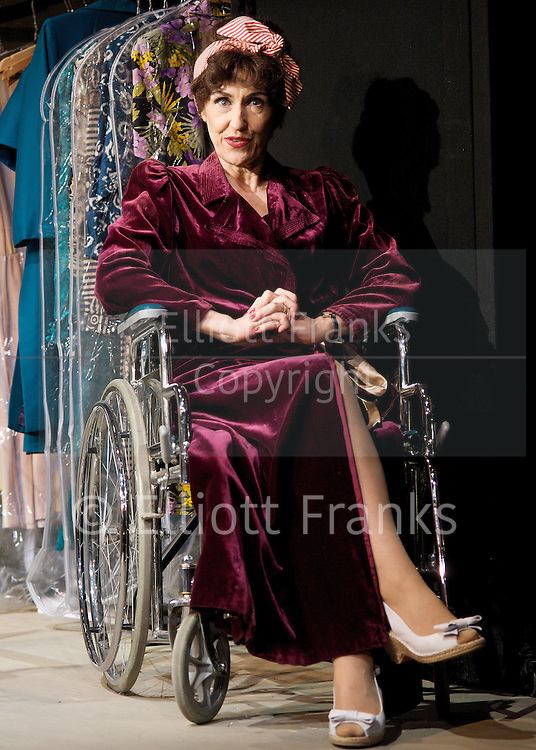 Bette &amp; Joan <br /> directed by Bill Alexander<br /> at The Arts Theatre, London, Great Britain <br /> press photocall<br /> 5th May 2011<br /> <br /> Anita Dobson (as Joan Crawford)<br /> <br /> Photograph by Elliott Franks