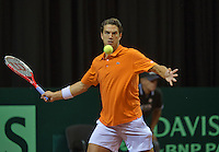 15-sept.-2013,Netherlands, Groningen,  Martini Plaza, Tennis, DavisCup Netherlands-Austria, fourth rubber,   Jesse Huta Galung (NED)<br /> Photo: Henk Koster