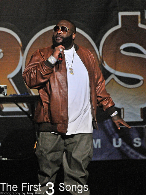 Rick Ross performs at Quicken Loans Arena in Cleveland, OH on Thursday March 24, 2011.