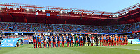 20190629 - VALENCIENNES , FRANCE : both team line ups pictured during the female soccer game between Italy  - Squadra Azzurrine - and The Netherlands  – Oranje Leeuwinnen - , a knock out game in the quarter finals of the FIFA Women's  World Championship in France 2019, Saturday 29 th June 2019 at the Stade du Hainaut Stadium in Valenciennes , France .  PHOTO SPORTPIX.BE | DAVID CATRY