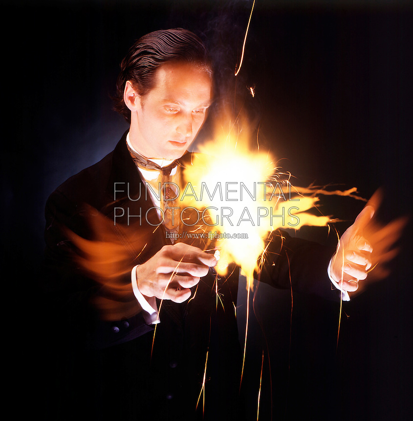 MAGICIAN WITH FLASH PAPER<br />