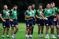 Bath Rugby players look on. Bath Rugby pre-season training session on August 9, 2016 at Farleigh House in Bath, England. Photo by: Patrick Khachfe / Onside Images