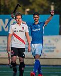 UTRECHT - Floris de Ridder (Kampong)  tijdens de hoofdklasse hockeywedstrijd mannen, Kampong-Amsterdam (4-3).  COPYRIGHT KOEN SUYK