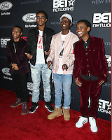 """LOS ANGELES - JAN 23:  Dante Hoagland, Myles Truitt, Tyler Williams, Jahi Winston at the BET's """"The New Edition Story"""" Premiere Screening at Paramount Studios on January 23, 2017 in Los Angeles, CA"""