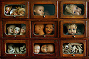 HOSPITAL DE BONECAS, 'DOLL'S HOSPITAL'. LISBON, PORTUGAL..THE WATCHFUL FACES OF SPARE PARTS LOOK ON DURING SURGERY...FILENAME:CK-DOLLS6 DOLLS, TOYS, HORROR, MUSEUM, ANTIQUES, HOBBIES. SKILL, ART