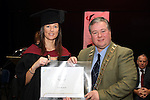 Mayor Paul Bell with Shirley McAlestar who graduated from Business Studies at the DIFE Graduation in The Barbican...Picture Jenny Matthews/Newsfile.ie