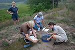 Alison Davis, Charles Dow, Ben Thyng & Becca Settele Preparing To Process Diamondback Turtle Nest