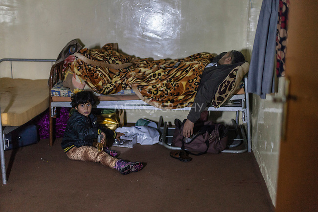 20/12/14 -- Sulaimaniyah, Iraq -- A family of Internally displaced Iraqis from Salahadin in Babusi Hotel.