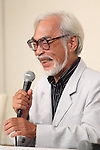 Hayao Miyazaki, Sep 06, 2013 : director Hayao Miyazaki attends a press conference of his retirement from active work on 6 Sep 2013 Tokyo