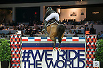 William Whitaker of United Kingdom riding Utamaro D Ecaussines competes during the Longines Grand Prix, part of the <br /> Longines Masters of Hong Kong on 12 February 2017 at the Asia World Expo in Hong Kong, China. Photo by Marcio Rodrigo Machado / Power Sport Images