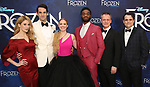 Caissie Levy,  John Riddle, Patti Murin, Jelani Alladin, Michael Grandage and Greg Hildreth attends the Broadway Opening Night After Party for 'Frozen' at Terminal 5 on March 22, 2018 in New York City.