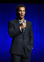 LAS VEGAS, NV - APRIL 23: Actor Matthew McConaughey onstage at the Sony Pictures Entertainment presentation at CinemaCon 2018 at The Colosseum at Caesars Palace on April 23, 2018 in Las Vegas, Nevada. (Photo by Frank Micelotta/PictureGroup)