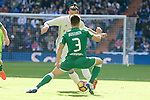 Real Madrid's player Gareth Bale and Leganes's  player Unai Bustinza during a match of La Liga at Santiago Bernabeu Stadium in Madrid. November 06, Spain. 2016. (ALTERPHOTOS/BorjaB.Hojas)