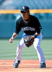 25 August 2007:  Colorado Rockies second baseman Kazuo Matsui warms up prior to a game against the Washington Nationals at Coors Field in Denver, Colorado. The Rockies defeated the Nationals 5-1 in the second game of their 3-game series...Mandatory Photo Credit: Ed Wolfstein Photo