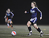 Casey Luongo #28 of Center Moriches moves the ball downfield during the second of two varsity girls soccer all-star games pitting the Suffolk County seniors against their Nassau counterparts at Bethpage High School on Friday, Nov. 25, 2016. She scored three goals in Suffolk's 5-0 win.
