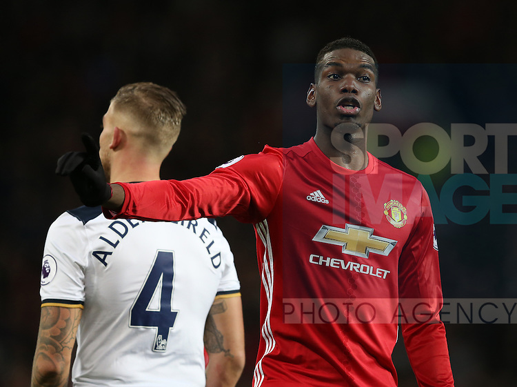 Paul Pogba of Manchester United during the English Premier League match at Old Trafford Stadium, Manchester. Picture date: December 11th, 2016. Pic Simon Bellis/Sportimage