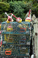 Commercial fishing dock, Menemsha, Chilmark, Martha's Vineyard, Massachusetts, USA