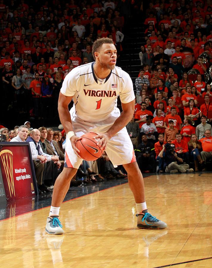 Virginia guard Justin Anderson (1) during an ACC basketball game Jan. 13, 2015 in Charlottesville, VA Virginia won 65-42.