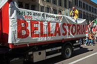 Milano, 25 Aprile 2016, manifestazione per la festa della Liberazione dal nazifascismo.<br /> Milan, April 25, 2016, demonstration for the Liberation Day.