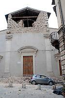 L'Aquila. una chiesa del centro dstorico.