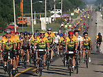 Riders roll into Colo on the historic Lincoln Highway on RAGBRAI XXXVI.