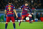 (R-L) Lionel Messi, Luis Suarez (Barcelona),<br /> DECEMBER 20, 2015 - Football / Soccer :<br /> FIFA Club World Cup Japan 2015 Final match between River Plate 0-3 FC Barcelona at International Stadium Yokohama in Kanagawa, Japan. (Photo by AFLO)