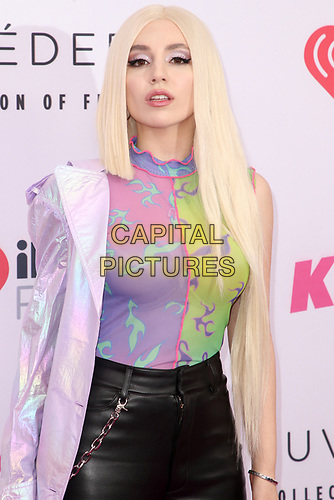 CARSON, CALIFORNIA - JUNE 01: Ava Max at KIIS FM 2019 iHeartRadio Wango Tango at Dignity Health Sports Park on June 01, 2019 in Carson, California.  <br /> CAP/MPI/SAD<br /> ©SAD/MPI/Capital Pictures