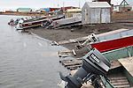 FISHING BOATS, KUGLUKTUK, NUNAVUT, CANADA