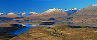 Lake Tekapo seen from Mount John, South Island, New Zealand - stock photo, canvas, fine art print
