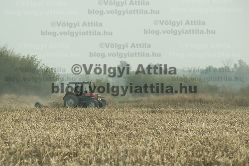 Agricultural machine works on the field in Western Hungary (about 200 kilometres west of capital city Budapest), Hungary on Oct. 19, 2017. ATTILA VOLGYI