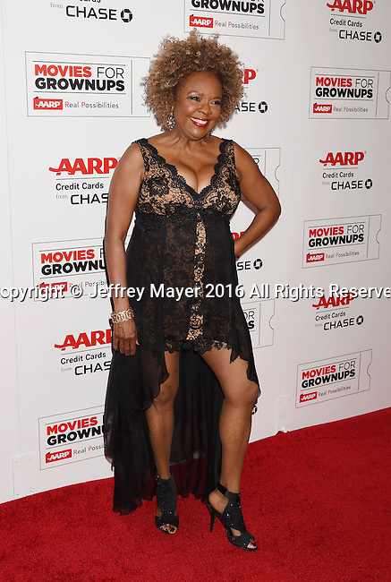 BEVERLY HILLS, CA - FEBRUARY 08: Singer Thelma Houston attends AARP's Movie For GrownUps Awards at the Regent Beverly Wilshire Four Seasons Hotel on February 8, 2016 in Beverly Hills, California.