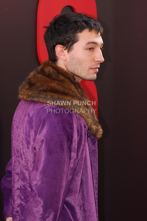 Ezra Miller arrives at the World Premiere of Ocean's 8 at Alice Tully Hall in New York City, on June 5, 2018.