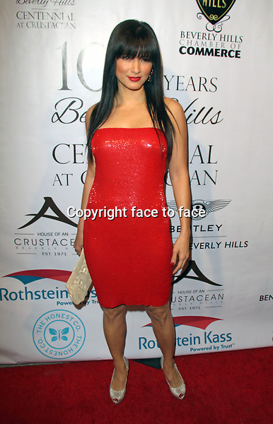 BEVERLY HILLS, CA - February 05: Kelly Hu at Experience East Meets West honoring Beverly Hills' momentous centennial year, Crustacean, Beverly Hills, February 05, 2014. Credit: Janice Ogata/MediaPunch Inc.<br /> Credit: MediaPunch/face to face<br /> - Germany, Austria, Switzerland, Eastern Europe, Australia, UK, USA, Taiwan, Singapore, China, Malaysia, Thailand, Sweden, Estonia, Latvia and Lithuania rights only -