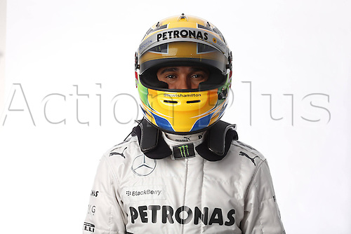 05.02.2013 Jerez, Spain. FIA Formula One World Championship 2013 F1 Testing and Launch. Lewis Hamiton Mercedes AMG team.