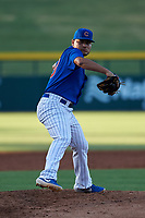AZL Cubs 1 relief pitcher Pablo Ochoa (43) during an Arizona League game against the AZL Athletics Gold at Sloan Park on June 20, 2019 in Mesa, Arizona. AZL Athletics Gold defeated AZL Cubs 1 21-3. (Zachary Lucy/Four Seam Images)