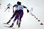Athletes compete during the cross country 10 km free style men as part of the Winter Universiade Trentino 2013 on 17/12/2013 in Lago Di Tesero, Italy.<br /> <br /> &copy; Pierre Teyssot - www.pierreteyssot.com