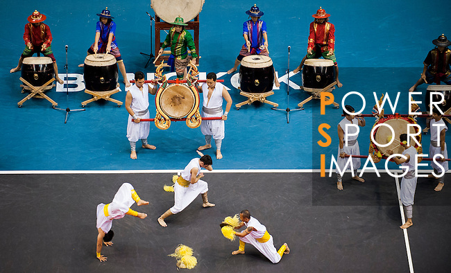 Traditional Thai drums and dancers perform during the opening ceremony of the PTT Thailand Open at Impact Arena on September 30, 2010 in Bangkok, Thailand. Photo by Victor Fraile / The Power of Sport Images