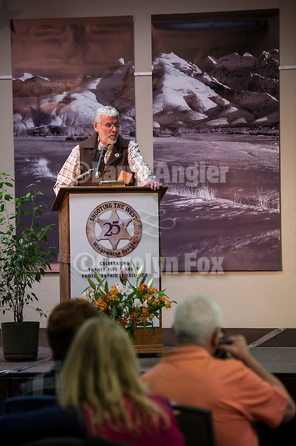 Shooting the West XXV, Winnemucca, Nev...Stuart Scofield opening the 25th annual Shooting the West