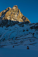 Italie, Val d'Aoste, Breuil-Cervinia : Le domaine  skiable et le  Cervin // Italy, Aosta Valley, Breuil-Cervinia: The ski area and Matterhorn