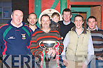 St Michaels/Foilmore fans celebrating the arrival of the All-Ireland Intermediate cup to Shebeens bar, Caherciveen on Monday was Kevin McCarthy, Martin O'Sullivan, Paul O'Shea, Ian, Tom O'Sullivan, Declan Sugrue and Pat Moran