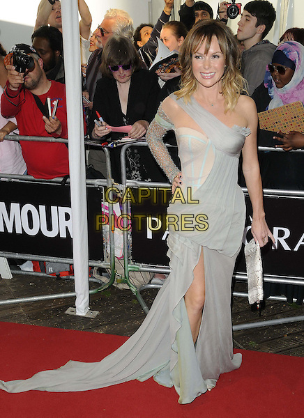 Amanda Holden<br /> The Glamour Women Of The Year Awards 2013, Berkeley Square Gardens, London, England.<br /> June 4th, 2013<br /> full length grey gray dress one shoulder sleeve lace slit split hand on hip<br /> CAP/CAN<br /> &copy;Can Nguyen/Capital Pictures