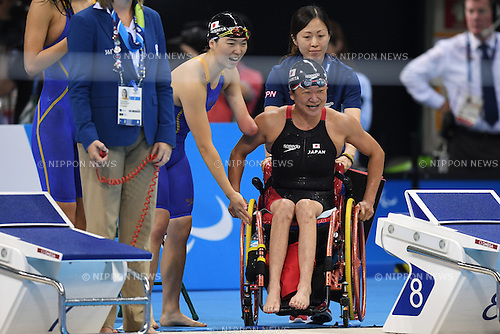 (L-R) Yuki Morishita, Mayumi Narita (JPN), <br /> SEPTEMBER 15, 2016 - Swimming : <br /> Women's 4x100m Freestyle Relay 34 Points Final <br /> at Olympic Aquatics Stadium<br /> during the Rio 2016 Paralympic Games in Rio de Janeiro, Brazil.<br /> (Photo by AFLO SPORT)