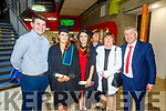 Siobhan Diggin (Lixnaw), Eimear Neenan (Abbeydorney) graduating from the I T Tralee on Friday standing with Mark O'Rourke, XXXX and Gerard Neenan and Kathleen Diggin