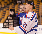 Lucas St. Onge (UML), Jake Kamrass (UML - 21) The University of Massachusetts-Lowell River Hawks defeated the Boston College Eagles 4-3 to win the 2017 Hockey East tournament at TD Garden on Saturday, March 18, 2017, in Boston, Massachusetts.