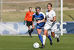 04 November 2009: Florida State's Amanda DaCosta (13) and Duke's Elisabeth Redmond (left). The Florida State University Seminoles defeated the Duke University Blue Devils 2-0 at Koka Booth Stadium in WakeMed Soccer Park in Cary, North Carolina in an Atlantic Coast Conference Women's Soccer Tournament Quarterfinal game.