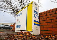 Graffiti on an electrical switchboard outside Elland Road, home of Leeds United FC<br /> <br /> Photographer Alex Dodd/CameraSport<br /> <br /> The EFL Sky Bet Championship - Leeds United v Bristol City - Saturday 24th November 2018 - Elland Road - Leeds<br /> <br /> World Copyright &copy; 2018 CameraSport. All rights reserved. 43 Linden Ave. Countesthorpe. Leicester. England. LE8 5PG - Tel: +44 (0) 116 277 4147 - admin@camerasport.com - www.camerasport.com
